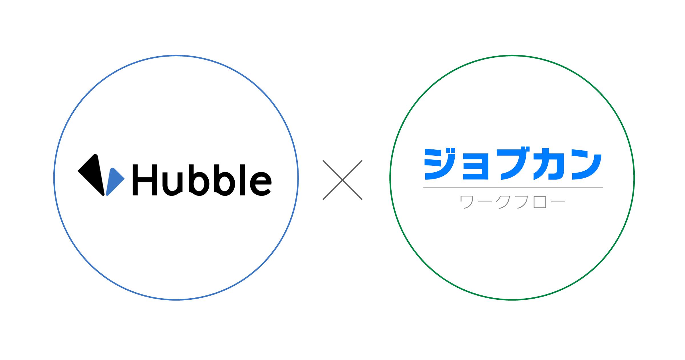 HubbleとジョブカンワークフローがAPI連携。契約書の作成から稟議、決裁までが一気通貫。意思決定の可視化とスピードアップを実現